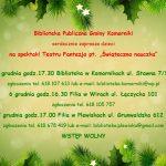 """Świąteczna nauczka"", spektakl Teatru Fantazja"