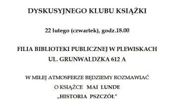 Dyskusyjny Klub Książki – 22 lutego