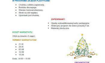 Warsztaty świąteczne dla dzieci