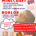 Wakacje z Minecraft w Bibliotece!