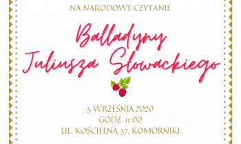 """Narodowe Czytanie """"Balladyny"""" w Komornikach"""