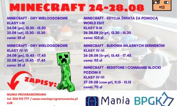 Zajęcia Minecraft – Biblioteka Komorniki