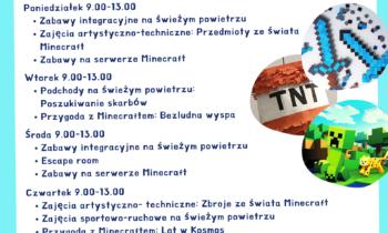 Wakacyjne warsztaty z Minecraftem